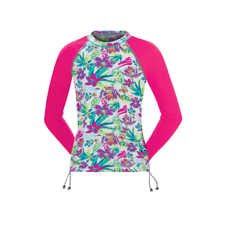Dolfin Uglies Rash Guard Girls In Bloom Long Sleeve