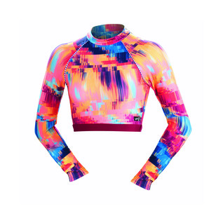 Dolfin Uglies Rash Guard REVIBE TECHNICOLOR DREAM Mock Neck