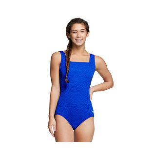 Speedo Pebble Texture Square Neck One Piece Swimsuit