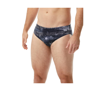 TYR Men's Swim Brief American Dream Racer