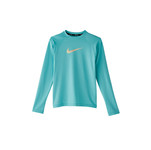 Nike Girls Swoosh Long Sleeve Hydroguard Swim Shirt