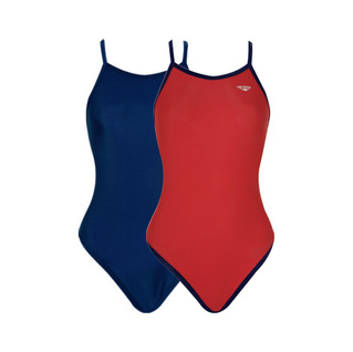 The Finals Solid Lycra Reversible H-Back Swimsuit
