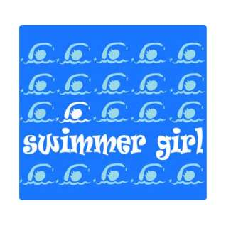 Mouse Pad Swimmer Girl