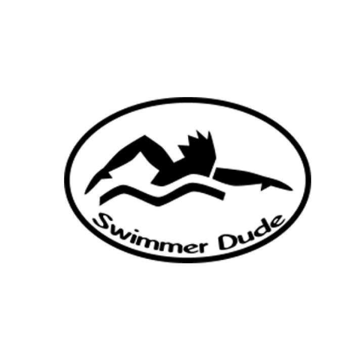 BaySix Swimmer Dude Car Magnet product image
