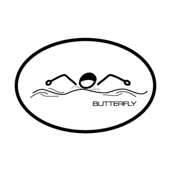 BaySix Butterfly Stick Figure Decal product image