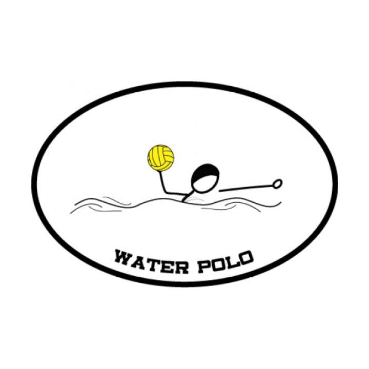 BaySix Water Polo Car Magnet product image