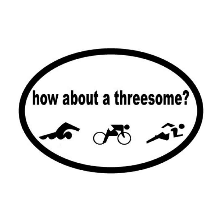 Bay Six How About A Threesome Oval Decal product image