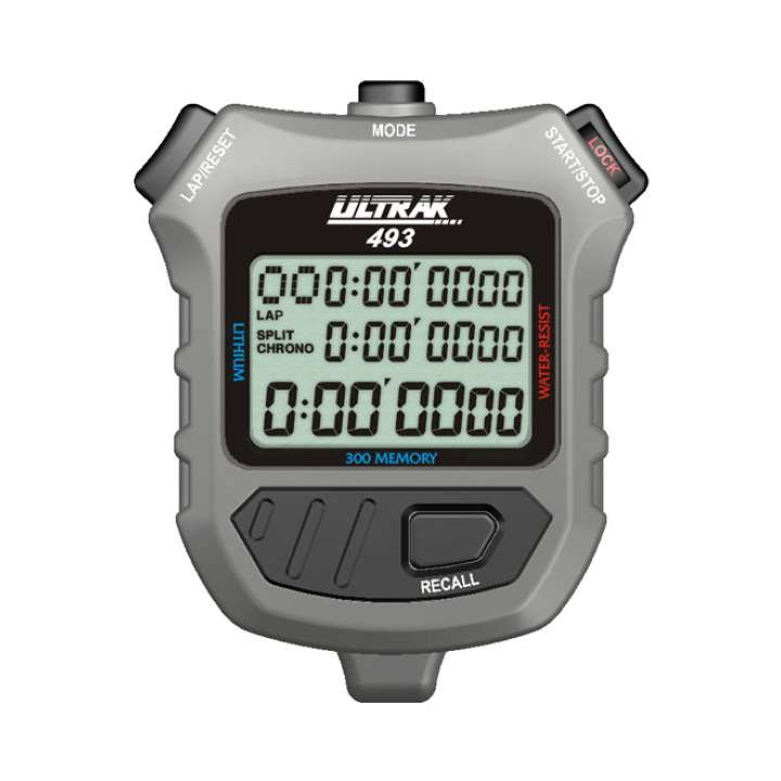 Ultrak 300 Memory 3 Line Display Stopwatch product image