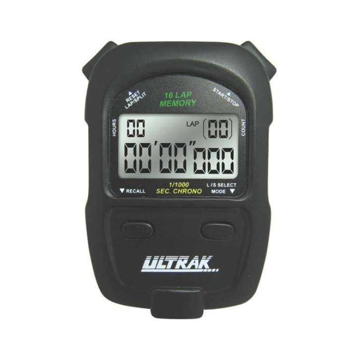 Ultrak 16 Memory 2 Line Display Stopwatch product image